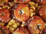 Pomodori con riso integrale epatate